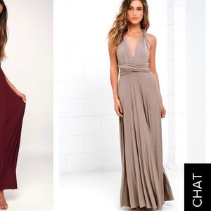 TRICKS OF THE TRADE TAUPE MAXI DRESS - Lulu's 👗